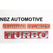 Kit Emblemas Turbo Gol - Parati - Saveiro - Nbz Automotive
