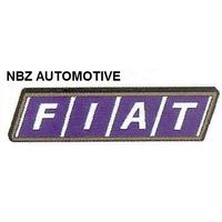 Emblema Fiat Mala Azul Mold. Preta - Linha Fiat Antiga - Nbz