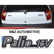 Emblema Palio 16v Cromado Com Azul - Linha Fiat 97/99 - Nbz