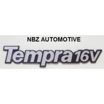 Emblema Tempra 16v Cinza/preto - Linha Fiat Antiga - Nbz