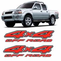 Par Adesivo Lateral 4x4 Off-road Frontier 2003 2004 2005