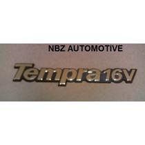 Emblema Tempra 16v Ouro/azul - Linha Fiat Antiga - Nbz