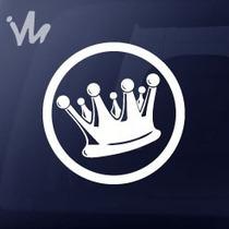 Adesivo Coroa King Suspensão Carro Baixo Fixa Rebaixado Euro