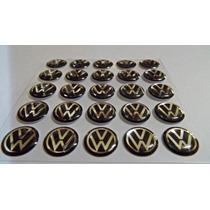 Emblemas/adesivos Chave Canivete Volkswagen 14 Mm Vw Preto
