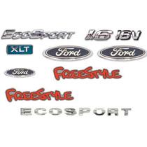 Kit Emblemas Ecosport 1.6 16v Xlt 3 Ford 2 Freestyle Ecospor