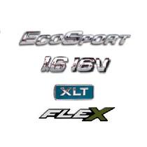 Kit Emblemas Ecosport 1.6 16v Xlt Flex + Brinde