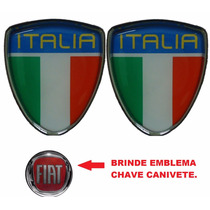 Emblema 2 Escudo Itália Punto- Escudo Italia Fiat Punto