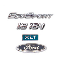 Kit Emblemas Ecosport 1.6 16v Xlt E Ford Porta Malas Brinde