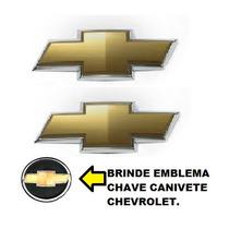 Kit Emblemas Gravata Grade E Mala Corsa E Classic + Brinde