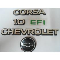 Kit Emblema Mala Chevrolet Corsa 1.0 Efi Gravata Mmfautopar