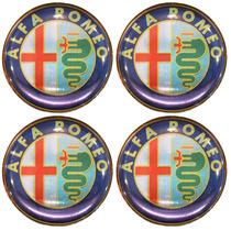 Jogo Emblemas Alfa Romeo P/ Calota Ou Roda C/4 Peças 48mm
