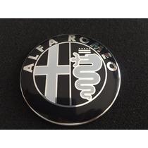 Emblema Alfa Romeo 74 Mm Capô E Porta Malas - Preto