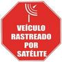 Placa Adesivo De Sinalização Rastreado Por Satélite