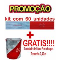 Kit Com 60 Faixas Refletivas + 1 Faixa Para-choque