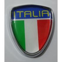 Emblema Italia Com Moldura Cromada Punto, Etc - Peça