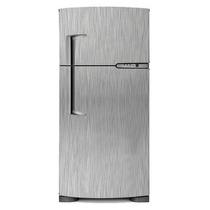 Vinil Adesivo Aço Escovado Geladeira Frigobar Freezer 1mx1m