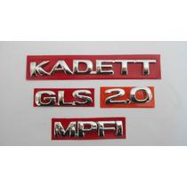 Kit Emblemas Kadett + 2 Gls + 2.0 + Mpfi - Mmf Auto Parts