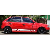 Faixas Laterais Vw Gol G2 G3 G4 Adesivo Lateral P Carro