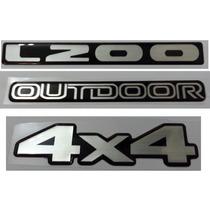 Kit Adesivo L200 Outdoor 4x4 Resinado