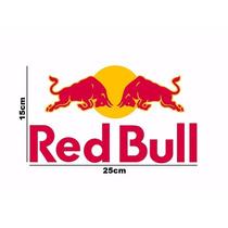 Kit 2 Adesivos Red Bull S/ Fundo Colar Por Fora Frete Grátis