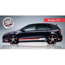 Kit Adesivo Faixas Laterais Vw Novo Golf Mk7 - Único !