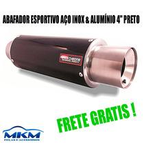 Abafador Esportivo Aço Inox & Alumínio Preto Escape