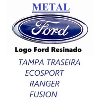 Emblema Adesivo Tampa Traseira Ford Metal Cromado Ecosport