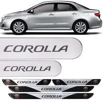 Friso Lateral Corolla 2012 Prata Super Nova + Soleira Porta
