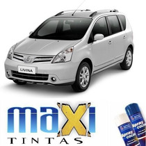 Tinta Spray Automotiva Nissan Prata Breeze Knh + Verniz