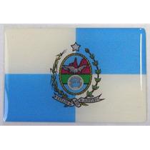 Bandeira Estado Do Rio De Janeiro Sudeste Brasil 6x4cm - Bre