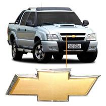 Emblema Chevrolet Gravata Dourada P/ Grade Dianteira S-10