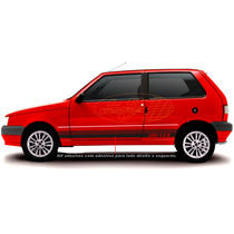 Adesivo Uno 1.5 R Fiat Mille Faixa Lateral Tuning Acessorios
