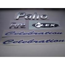 Kit Emblemas Palio + Fire+ Flex + 2x Celebration 04/...- Bre