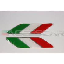 Par Bandeira Itália Fiat 500 + Gabarito