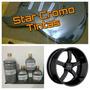 Tinta Cromo 500ml + Fundo Preto Cadilac 900ml + Metal Flake