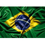 Adesivo Auto Relevo Resinado Bandeira Brasil 9,0 Cm X 4,5 Cm
