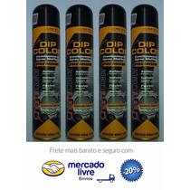 Kit C/ 4 Latas De Spray Para Envelopamento Preto Semi Brilho
