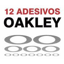12 Adesivos Oakley Textura Aço Escovado Skin Notebook Oakley