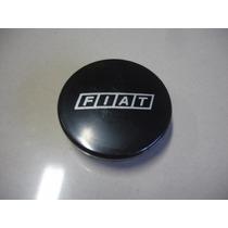 Calota Central Preta Ø5,0cm Para Roda De Liga Leve Fiat