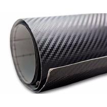 Adesivo Envelopamento Fibra Carbono 0,50m X 3m Carro Peças
