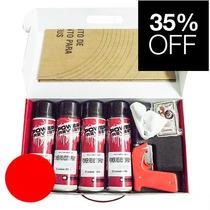 Kit P/ 4 Rodas Envelopamento Líquido Vermelho Ferrari Spray