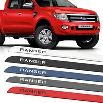 Friso Adesivo Lateral Ranger 2013 2014 2015 Prata Branco Pre