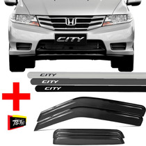 Kit Friso Lateral Honda City + Calha De Chuva 2009/2014