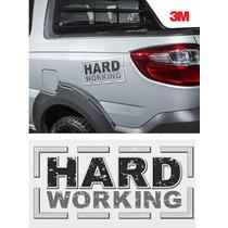 Emblema Adesivo Hard Working Strada Original 3m 1 Ano