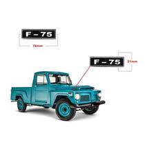 Emblema Jeep F75 - Resinado - Adesivo Valor Do Par - Peças