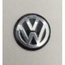 Emblema Logo Chave Canivete Vw Polo Golf Alumínio Preto