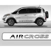 Kit Friso Adesivo Lateral Resinado Citroen Aircross Transpar