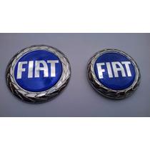 Kit Emblema Azul C/ Duplaface Grade E Mala Palio 04/...- Bre