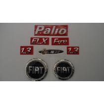 Kit Emblemas Fiat - Palio + Fire + 1.3 + Elx + Flex - Mmf