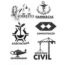 Adesivos De Cursos Direito, Administração, Engenharia,....